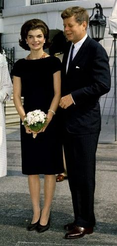 President John F. Kennedy with wife and First Lady Jacqueline Bouvier-Kennedy at the White House.