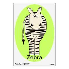 Noah's Ark Zebra Wall Decal