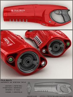 Sci-fi weapon: Pulsar energy rifle - secondary by peterku on DeviantArt (concept gun):