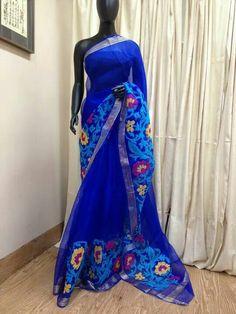 Blue silk saree