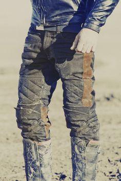 """FUEL """"SERGEANT"""" WAXED PANTS Motorcycle Jeans, Motorcycle Style, Motorcycle Fashion, Riding Pants, Riding Gear, Biker Wear, Camo Pants, Boys Jeans, Stretch Denim"""
