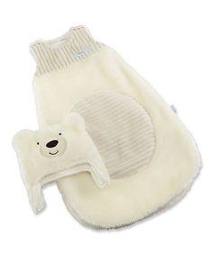 Look what I found on #zulily! White Beary Snuggly Polar Bear Sleeping Sack & Beanie by Baby Aspen #zulilyfinds