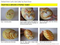 Easy Rock Painting Ideas | Rock Painting Tutorial - Let's Get Catty by Suzi Chua+