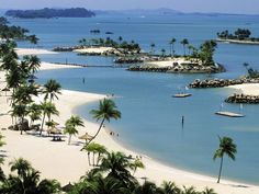Sentosa Island, Singapore. In recent years, have been filled with live, sprouting hotels, entertainment parks, eateries and luxury accommodations. An island worth spending at least 3 days to soak up the fun and sunlight! :)
