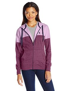 U.S. Polo Assn. Juniors French Terry Colorblock Hoodie, Merlot Wine, Large