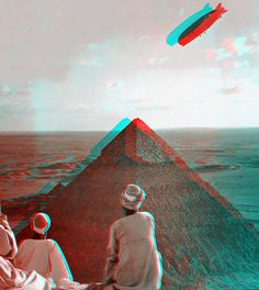 3D Nick –  Rendezvous 1931 –  Caption says: The Graf Zeppelin's rendezvous with the eternal desert and the more than 4000 year old pyramids of Gizeh Egypt c1931. Anaglyph from the digital collection of the Library of Congress.   https://www.flickr.com/photos/3dnick/3120025822/sizes/z/