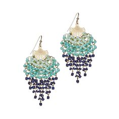 Delilah K Ivy Beaded Earrings #beaded #blue #resort #dangle #earrings