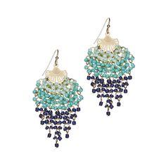 Delilah K Ivy Beaded Earrings #beaded #blue #resort #dangle #earrings