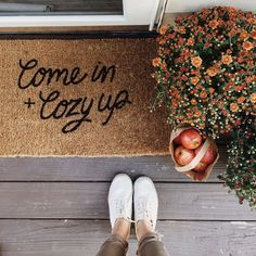 Where to Find The Cutest Doormats Ever: Come In And Cozy Up Doormat. Click through for the details. | http://glitterinc.com | /glitterinc/