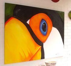 Acrylic Painting Canvas, Acrylic Art, Canvas Art, Bird Drawings, Bird Art, Art Studios, Cute Art, Art Day, Art Pictures