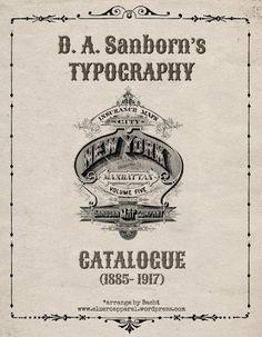 Quite interesting - The Sanborn Vintage Typography Complete Catalog Bundle
