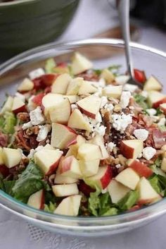 raspberry vinaigrette salad! it has bacon, apples, walnuts, & feta cheese...oh another salad!