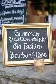 signature drink .. Good idea! cute!