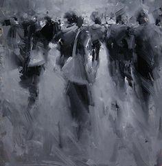 darksilenceinsuburbia:  Tibor Nagy. Ghost Town. Oil on panel.