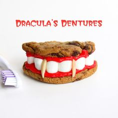 Im going to make for Santa without the fangs..  He's probably looking for them...    Dracula's Dentures for Halloween | The Girl Who Ate Everything