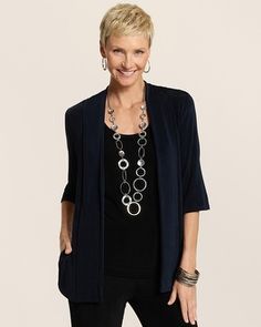 """Chico's Travelers Classic Mea Jacket #chicos- I love this hair style.  I just don't know if I should do the """"blonde"""" look."""