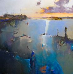 Peter Wileman: New paintings Seascape Art, Abstract Landscape Painting, Landscape Art, Landscape Paintings, Abstract Art, Landscapes, Peter Wileman, Modern Art, Contemporary Art