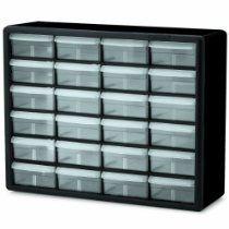 Allmartshopping - Akro-Mils 10124 24 Drawer Plastic Parts Storage Hardware and Craft Cabinet, 20-Inch x 16-Inch x 6.5-Inch, Black