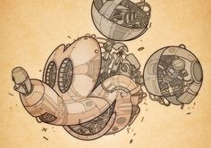 Awesome Mechanical Illustrations by Jason Gamber | Inspiration Grid | Design Inspiration