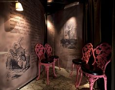 Alice in Wonderland restaurant (Wouldn't mind jumping into this rabbit hole)