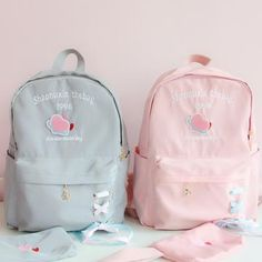 ●About Shipping: We attach great importance to the orders of each customer and parcel delivery. time: business days to US, please allow weeks shipping to other country.(Shipping times can Girly Backpacks, Pretty Backpacks, Cute Mini Backpacks, School Accessories, Kawaii Accessories, Kawaii Bags, Kawaii Clothes, Modern Backpack, Aesthetic Backpack