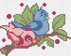 Funny Art Canvas Cross Stitch Ideas For 2019 Cross Stitch Bird, Cross Stitch Animals, Cross Stitch Flowers, Cross Stitching, Cross Stitch Embroidery, Hand Embroidery, Beading Patterns, Embroidery Patterns, Pixel Crochet Blanket