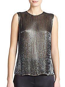 Jason Wu - Sequined Silk Blouse - Saks Fifth Avenue Mobile