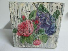 Vintage Wood Box/Handmade/Tissue by VintageHomeIrina on Etsy, $18.00