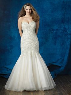 8af9923263ad6 Available at Something Blue Bridal! #weddinggown #plussize #allurebridals  White Wedding Dresses,