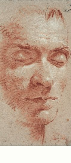 Giovanni Battista Tiepolo, Kopf eines Mannes mit geschlossenen Augen, um 1750 |  Sammlung Klüser,München