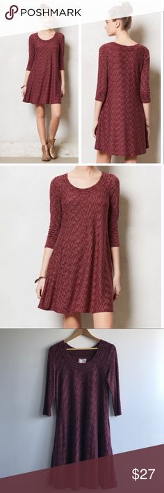 """Saturday Sunday Dress w/ Pockets GUC (slight wash wear, shown), pockets, length 38"""" shoulder to hem, 3/4 sleeves. Comes from a clean, smoke-free, pet-free home. Sorry, no trades, no modeling. 20% off bundle of 2. Anthropologie Dresses"""