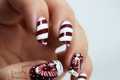 Candy Cane nails - Lucy's Stash...