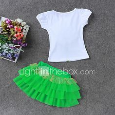 LZH Children Clothes 2017 Summer Kids Girls Clothes Set Flower T-Shirt+Skirt Outfit Girl Sport Suit Children Girls Clothing - Kid Shop Global - Kids & Baby Shop Online - baby & kids clothing, toys for baby & kid Cheap Girls Clothes, Kids Outfits Girls, Shirts For Girls, Baby Boy Outfits, Kids Girls, Baby Kids, Summer Kids, 2017 Summer, Skirts For Kids