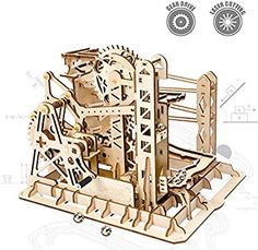 Objective 5 Kinds Marble Run Game Diy Waterwheel Coaster Wooden Model Building Kits Toys For Boys Adults Assembly Children Toys Xmas Gifts Model Building