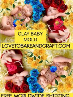 Baby mold babymold babymould sculpey craftsy sculpeybaby fimodollmold sculpeybabymold sculpeydoll fondantbaby gumpastebaby doll clay claybaby