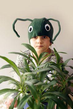 Kids costume grasshopper costume hat animal costume hat by Imeloom