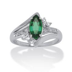 <li>Cubic zirconia and emerald ring</li> <li>Platinum over silver jewelry</li> <li><a href='http://www.overstock.com/downloads/pdf/2010_RingSizing.pdf'><span class='links'>Click here for ring sizing guide</span></a></li>