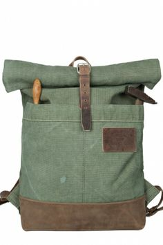 Roll top rucksack backpack