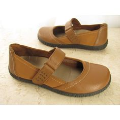 Vionic Orthaheel 7 M Mary Jane Shoes Tan Leather Light Brown Womens Slip On MINT #Vionic #MaryJanes #Casual