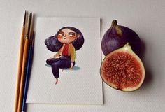 Pour sa dernière série, l'illustratrice anglaise Marija Tiurina s'amuse à transformer les fruits et légumes en adorables personnages colorés. Une série do