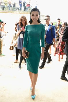 Front Row At Elie Saab Spring 2014 Chinese actress Yao Xingtong in Elie Saab