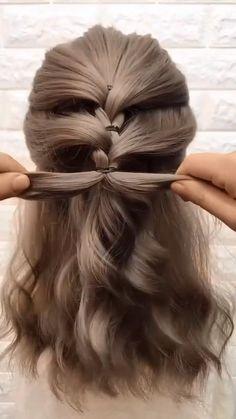 Front Hair Styles, Medium Hair Styles, Curly Hair Styles, Hair Tutorials For Medium Hair, V Hair, Open Hairstyles, Hairdo Wedding, Hair Videos, Hair Looks