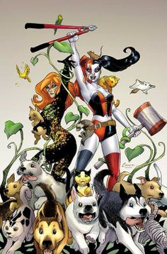 Harley Quinn and Poison Ivy liberate the animals! Art by Amanda Connor.