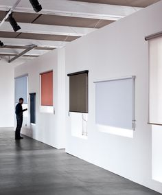 the bouroullec's kvadrat roller blind mechanisms work as seamlessly as a swiss watch