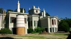 Rip Van Winkle Gardens New Iberia, Louisiana. Side view of the home with cisterns.