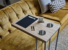 New Modern handmade Side / Sofa Table with iPhone 5 6 6 plus docking station  #Unbranded #Modern