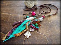 Hippie Necklace  Hippie Tassel Necklace  Boho by HandcraftedYoga, $36.00