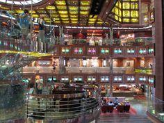 atrium of carnival dream. #carnival, #cruise, #carnival dream