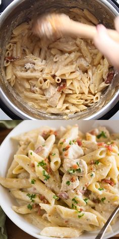 meals Creamy Instant Pot Ranch Chicken Pasta will have everyone begging for seconds! A delicious and easy instant pot dinner with tender noodles in a creamy ranch sauce with cheese, chicken and Best Instant Pot Recipe, Instant Pot Dinner Recipes, Easy Dinner Recipes, One Pot Recipes, Instant Pot Meals, Meal Ideas For Dinner, Easy Lunch Ideas, Easy Dinners For Two, One Pot Dinners