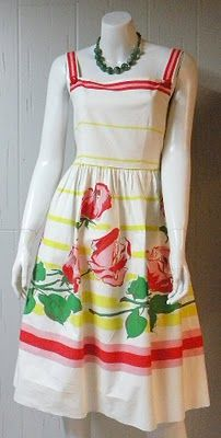 I heart this dress  For vintage tablecloths